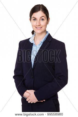 Brunette businesswoman portrait