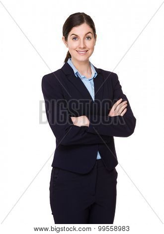 Brunette confident businesswoman
