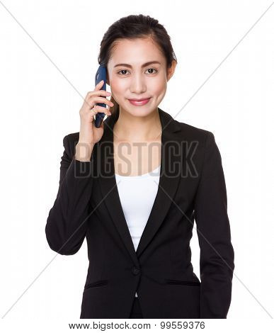 Asian businesswoman talk to cellphone