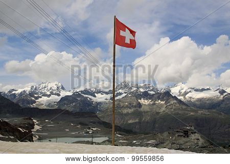 Swiss Alps Near Matterhorn