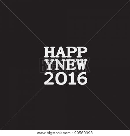 Happy New Year greeting card. Design template
