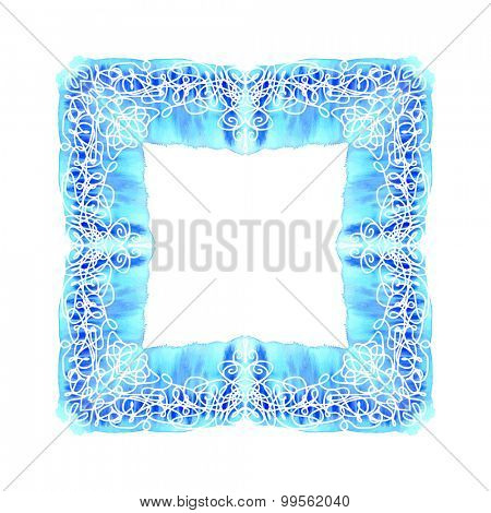 Abstract vector square ornamental border frame. Lace pattern design. For banner, web design, wedding cards and others