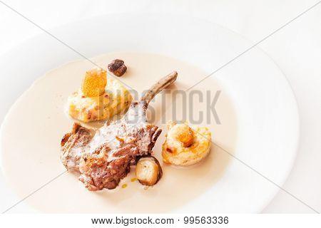lamb with sauce