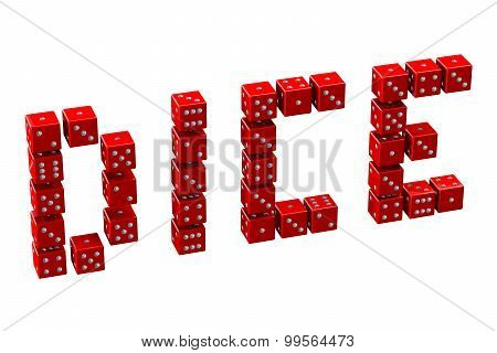 Word Dice Written Dices