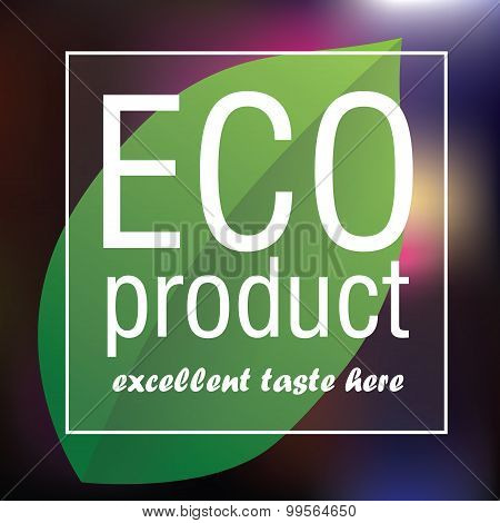 Eco Product poster abstract vector background