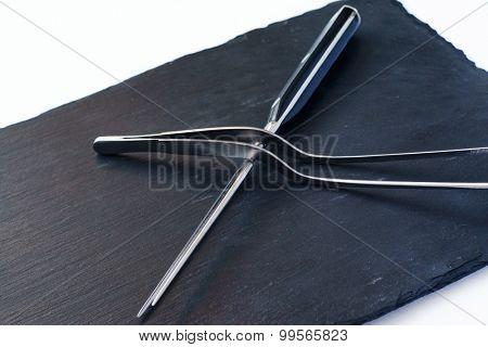 steak fork and knife