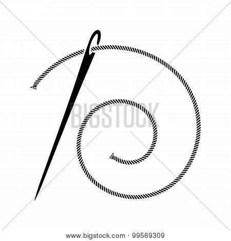 Sewing Needle Silhouette