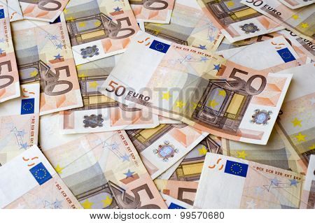 Concept or conceptual euro paper money banknote texture background