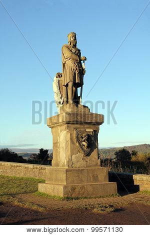 King Robert The Bruce Statue At Stirling Castle Scotland