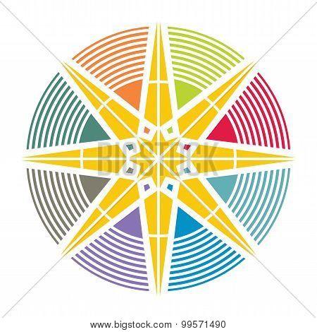 Artistic Colorful Sun Illustration