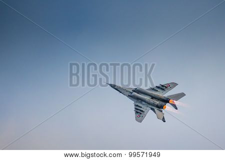 Radom, Poland - August 23: Slovakian Air Force Mig-29 Solo Display Performing At Air Show Radom 2015