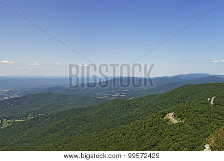 View From Little Stony Man Lookout, Shenandoah National Park