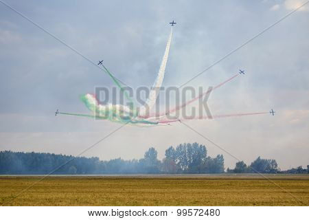 Radom, Poland - August 23: Aerobatic Group Formation