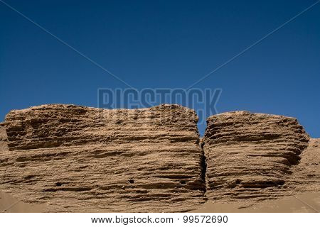 Landform In Desert, Inner Mongolia, China