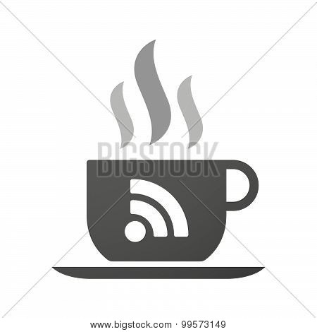 Cup Of Coffee Icon  With An Rss Sign