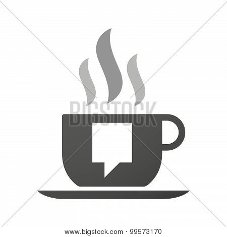 Cup Of Coffee Icon  With A Tooltip