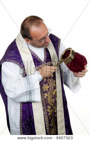 Catholic Priest Collects Money For The Church