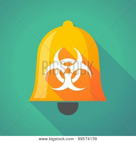Bell Icon With A Biohazard Sign
