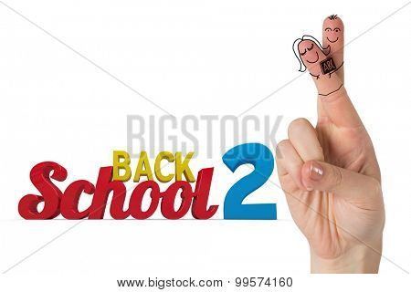 Fingers posed as students against back 2 school