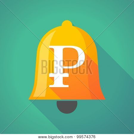 Bell Icon With A Ruble Sign