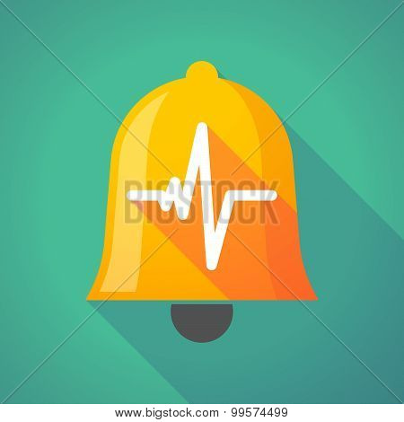 Bell Icon With A Heart Beat Sign