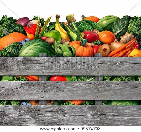 Fruit And Vegetable Harvest