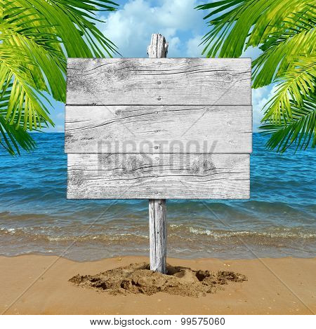 Beach Vacation Blank Sign