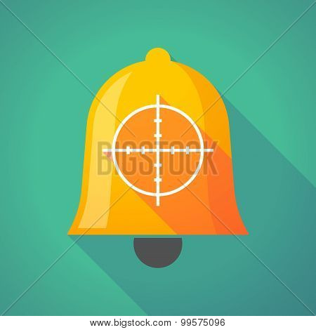 Bell Icon With A Crosshair