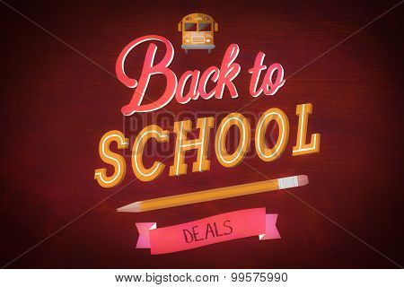 back to school against desk