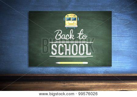 back to school against green chalkboard
