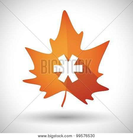 Autumn Leaf Icon With An Asterisk