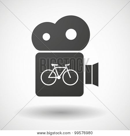 Cinema Camera Icon With A Bicycle