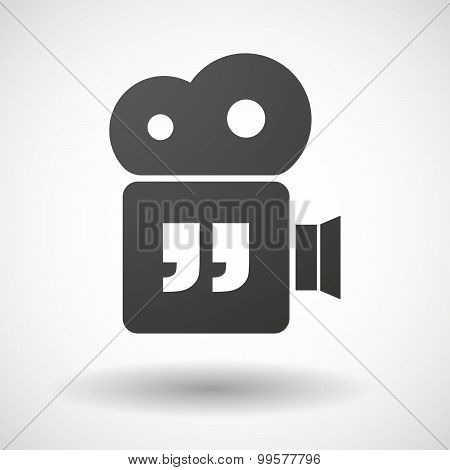 Cinema Camera Icon With  Quotes