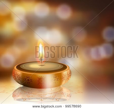Happy Diwali Background With Space For Your Design