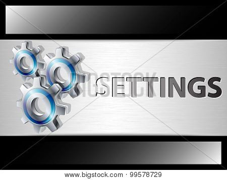Settings Panel Template For Web Design Or Applications