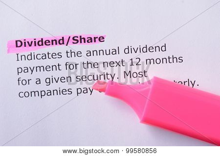 Dividend/share