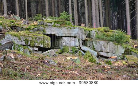 Blocks Of Stone In The Forest