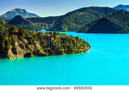 Azure Water Of Lac De La Castillon