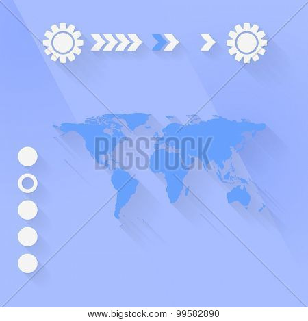 Blue purple flat minimal tech background. Vector illustration