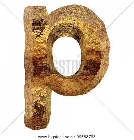 High resolution concept or conceptual 3D yellow shiny gold golden metal font part of a set or collection isolated on white background
