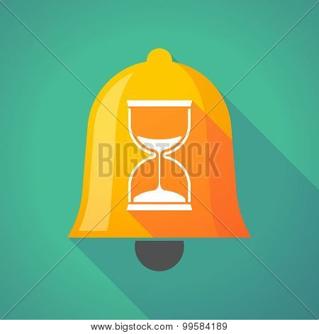 Bell Icon With A Sand Clock