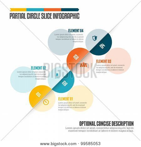Partial Circle Slice Infographic