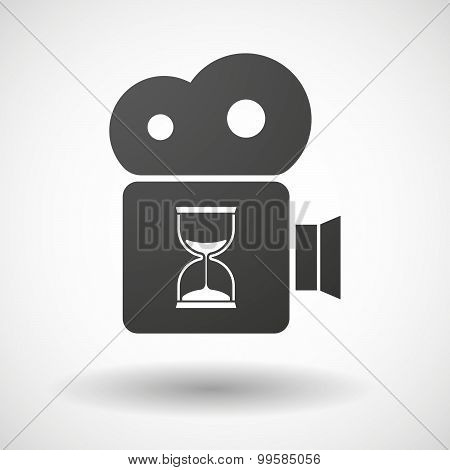 Cinema Camera Icon With A Sand Clock