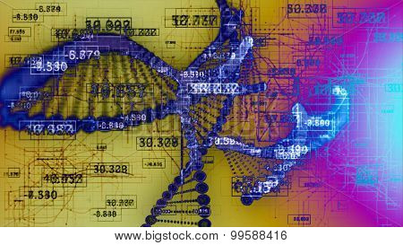 Abstract DNA.
