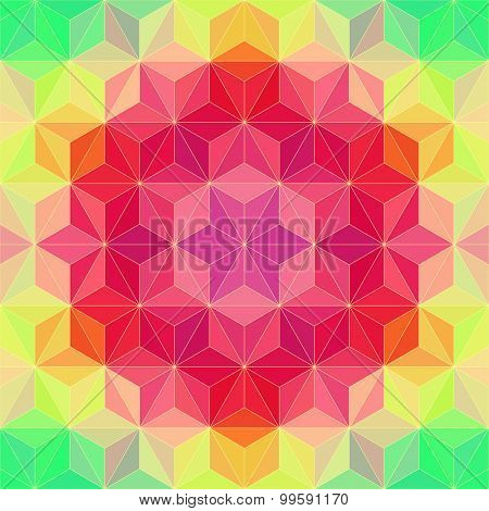 Vector Psychedelic Background