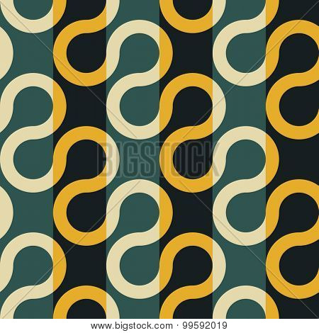 Seamless Wave and Stripe Pattern. Vector Regular Texture