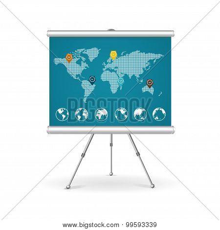 Flip chart business concept. Vector