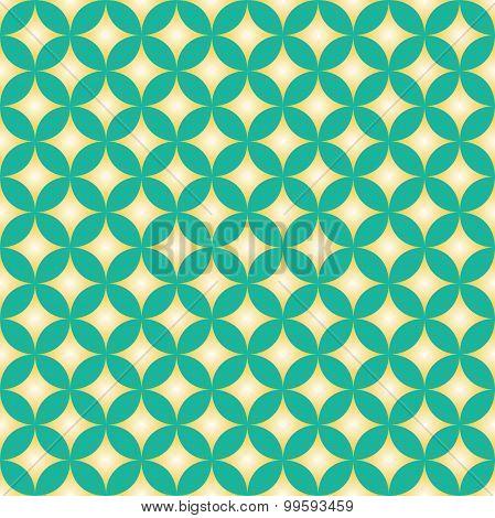 Green & Yellow Diamond Star Circle Pattern