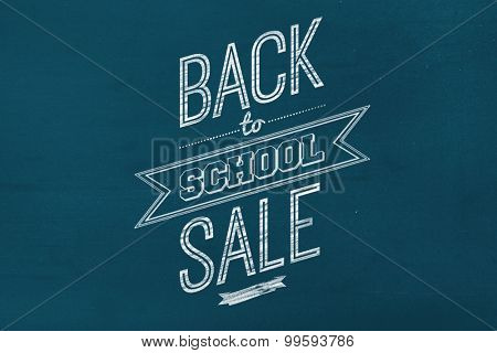 Back to school sale message against navy blue