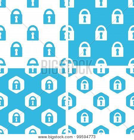 Locked padlock patterns set